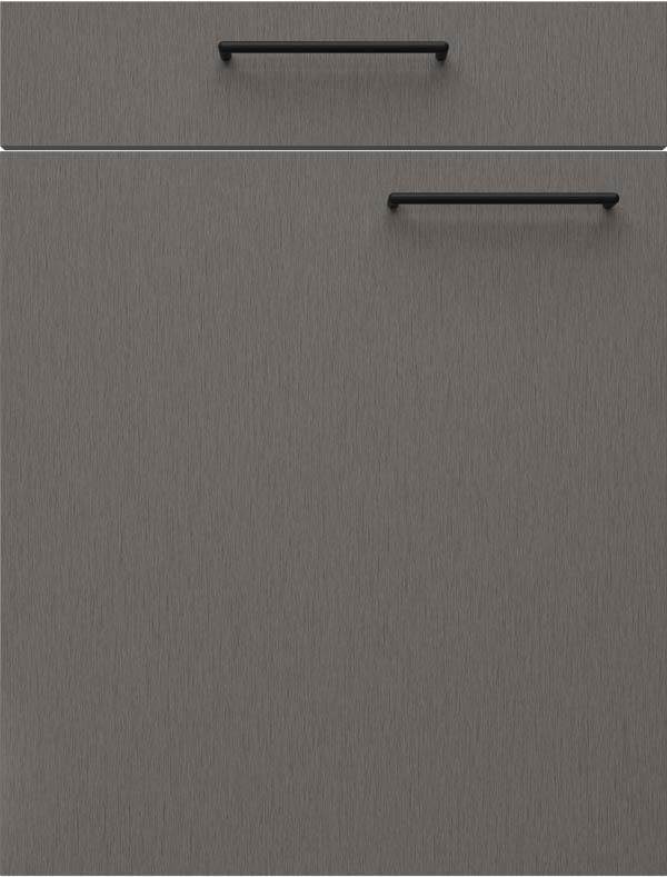 artego Küchen · Front Steel · 21096 Donker Titaan