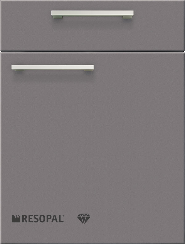artego Küchen · Front Pure Glas · 48120 Grafietgrijs