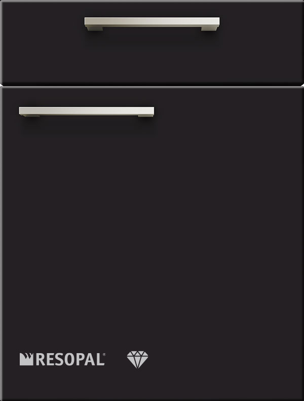 artego Küchen · Front Pure Glas · 48129 Zwart