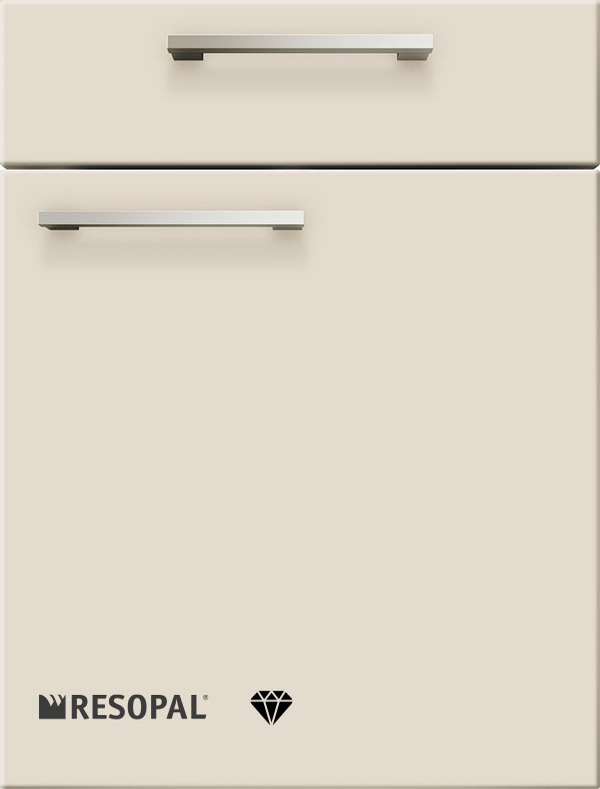 artego Küchen · Front Pure Glas · 48166 Angoragrijs