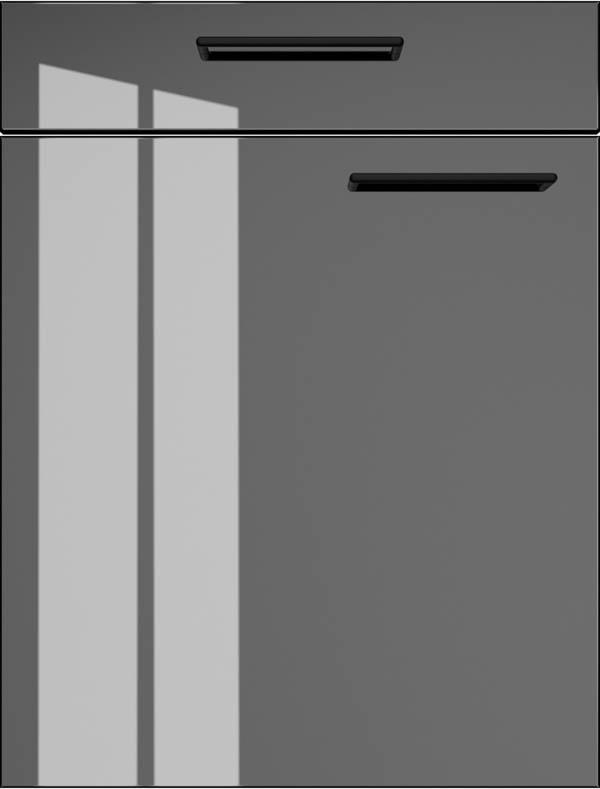 artego Küchen · Front Starlight · 52027 Piano Zwart