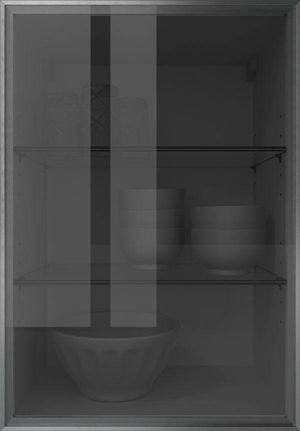 artego Küchen · Glasrahmentür Schwarzglas