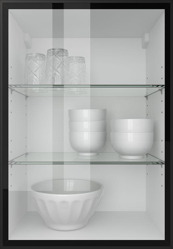 artego Küchen · Glasrahmentür Klarglas