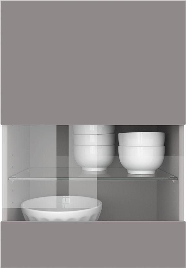 artego Küchen · Segmentglas-Front Klarglas