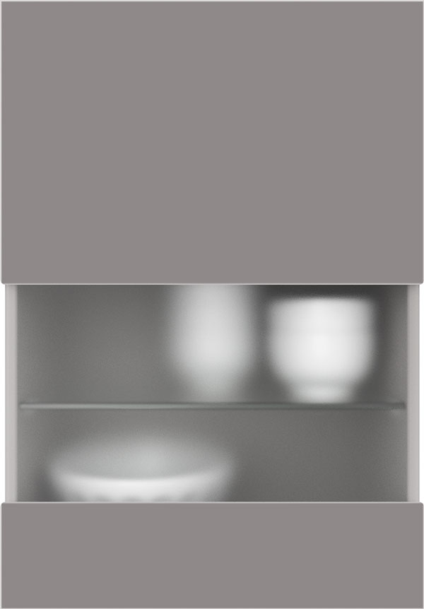 artego Küchen · Segmentglas-Front Mattglas