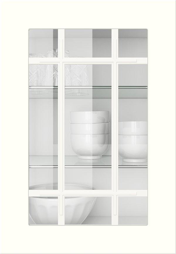artego Küchen · Sprossenglas-Front Klarglas