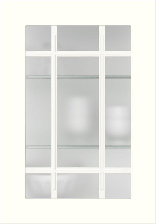 artego Küchen · Sprossenglas-Front Mattglas